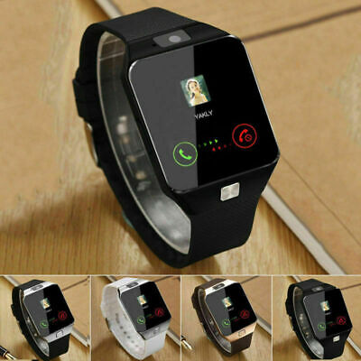 2019 DZ09 Bluetooth Smart Watch Phone +Camera SIM SLOT For Android IOS Phones UK