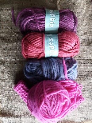 Job Lot Of Sirdar Big Softie Super Chunky Knitting Wool Yarn - 51% Wool