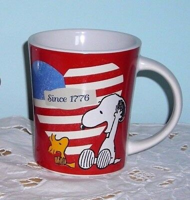 NEW ~ SNOOPY JULY 4th PATRIOTIC COFFEE MUG CUP US AMERICAN FLAG 1776 ~ LAST ONE