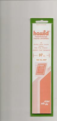 HAWID MOUNTS 37mm strips clear pack of 25