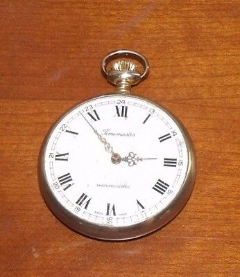 Vintage Timemaster Shock Protected Swiss Made Pocket Watch Working