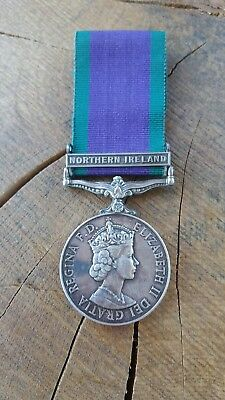 Northern Ireland QE2 GSM Medal. WFR. Sherwood Foresters.