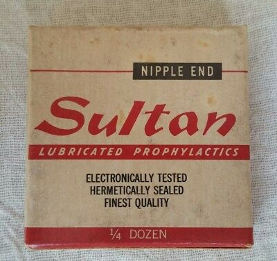 1960s Vintage Sultan Condom Pack Akwell Industries Inc Dothan Alabama #2