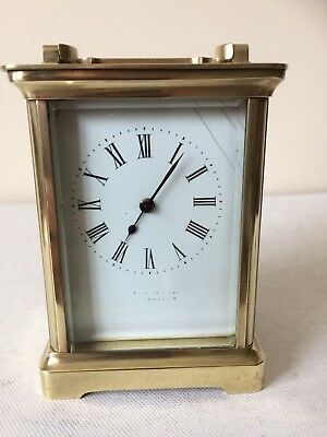 Vintage 1930's 8 Day French Mech Move Solid Brass Carriage Clock