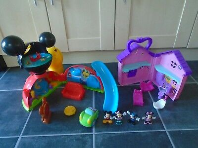 Mickey & Minnie Mouse Toys Clubhouse Disney Playset, Minnie Mouse House, Figures