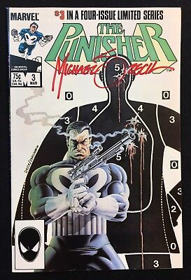 The Punisher #3 Vol 1 Limited Series (1985) Signed by Mike Zeck Netflix Bernthal
