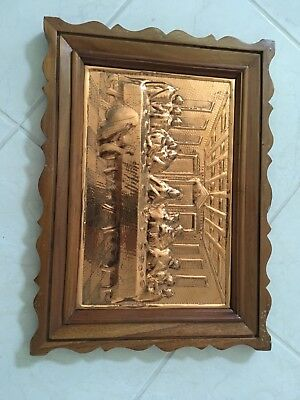 copper last supper art handcrafted