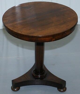 Lovely Rare William Iv Regency Rosewood Round Side Occasional Wine Lamp Table