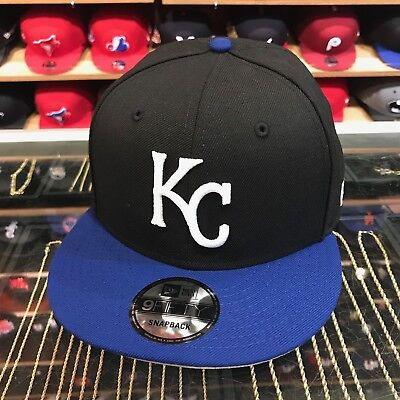 63cc2852 NEW ERA KANSAS City KC Royals Snapback Hat Cap Black/Royal/White