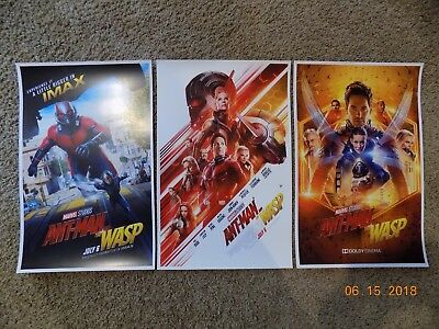 """Ant Man & the Wasp (11"""" x 17"""") Movie Collector's Poster Prints (Set of 3)"""