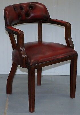 Lovely Oxblood Leather Chesterfield Court Chair For Desks Or Guests Lovely Find