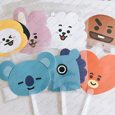 BTS X LINE FRIENDS NEW BT21 OFFICIAL FAN, Free Shipping+Tracking