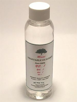 100% PURE KOSHER USP VEGETABLE GLYCERIN FOOD GRADE  10 OZ by weight