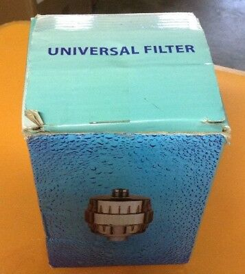 Universal Filter for Shower Head with Replaceable 2-Stage Cartridge