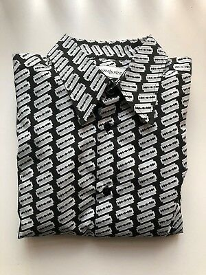 Yves Saint Laurent YSL Mens Razor Blade Long Sleeve Shirt Size 39 RRP £450 Brand
