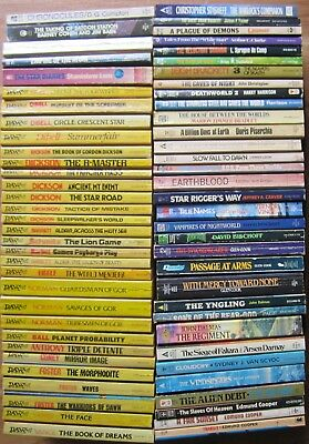 Vintage Mixed Lot of 65 Science Fiction Various Authors Paperbacks (Box #179)