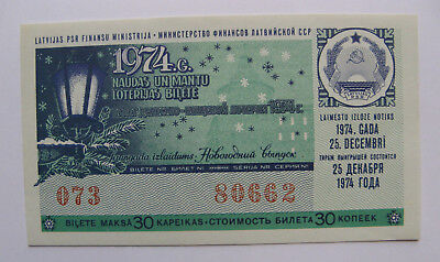 Latvia Ussr Lottery Ticket 1974 Gebraucht Circulated