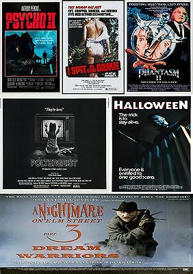 Horror Movie Poster Collection 2/Wall Art:Laminated:A4:!!Buy 2 Get 3 FREE!!