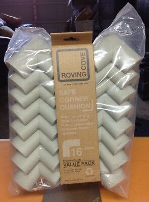 "Roving Cove 16-Piece ""Safe Corner Cushion"" – PRE-TAPED CORNERS; 16-Pack..."