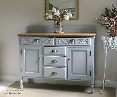 Beautiful Vintage Shabby Chic Sideboard Cupboard Dresser Painted in Chalk Paint