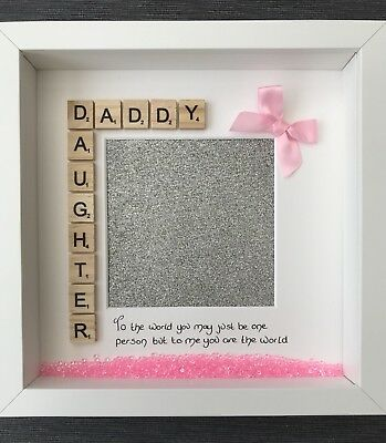 FATHERS DAY PRESENT Handmade Personalised Frame Dad Daddy Daughter ...