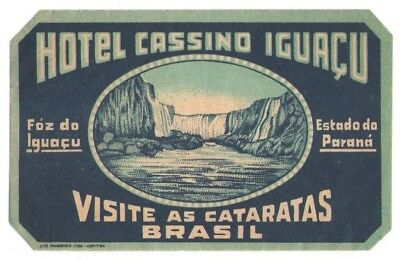 Lot of 7 Hotel Luggage Labels from Brazil