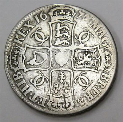 1677 Crown Great Britain 7 over 6 variety S3358 Fine condition F12