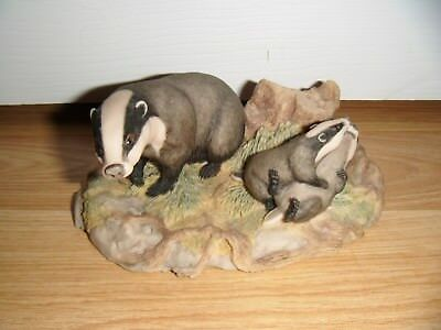 Border Fine Arts ~ The Chiltern Collection ~ Badgers ~ RW3 ~ 1988 ~ Excellent