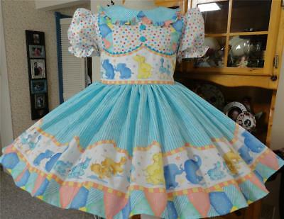 """Annemarie-Adult Sissy Baby Girl Dress  """"Jungle Parade"""" Ready Ship"""