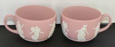 Wedgwood ~ Pink Jasper Ware Dancing Hours ~ Pair Of Tea Cups ~ More Available
