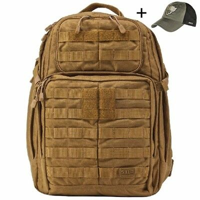 5.11 Tactical Rush 24 FDE Back Pack with Free Cap
