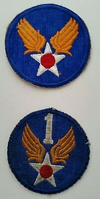 WW2 WWII USAAF US Army Air Forces Headquarters and 1st AAF Patch Lot