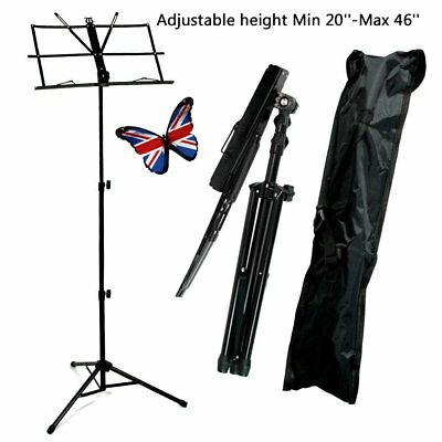 Music Note Stand Sheet Holder Lightweight Adjustable Foldable + Carry Case