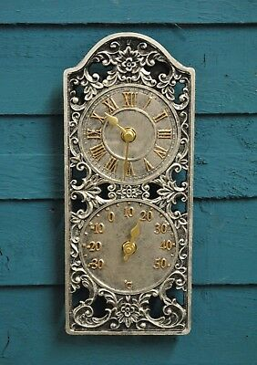 Wall Clock Thermometer Garden Clock Westminster Outside In Designs