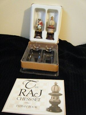 Franklin Mint The Raj Chess Set Pieces Indian Rook & Solder Pewter