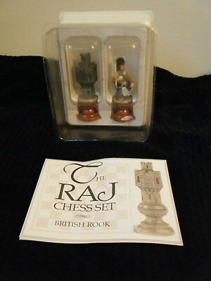 Franklin Mint The Raj Chess Set Pieces British Rook & Solder Pewter
