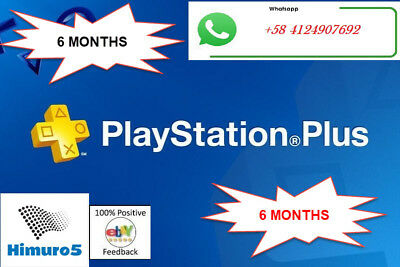 PS PLUS 6 Month (12x14) DAY TRIAL - PS4 - PS3 - (NO.CODE)