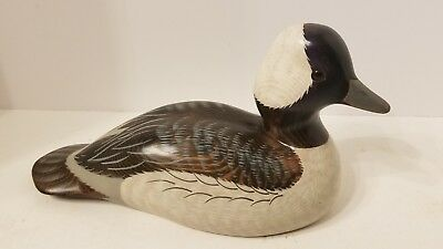 Big Sky Carvers  Duck Hand Carved & Painted Signed