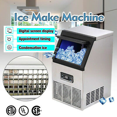 132LB Built-In Stainless Steel Commercial Ice Maker Ice Cube Machine Restaurant