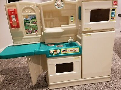 Vintage Step 2 Kitchen Set With Fridge Sink Microwave Fold Out Table