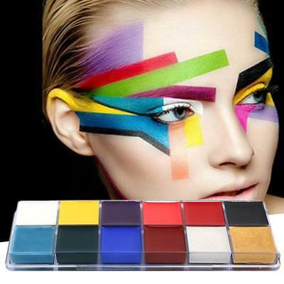 12 Color Body Face Oil Paint Cosmetic Stage Theatre Makeup Halloween Fancy Dress