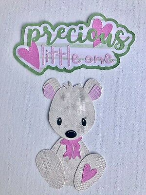 PRECIOUS LITTLE ONE TITLE and BEAR paper piecing / die cut set