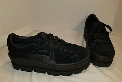 check out 31f7f f8d4e NEW PUMA FENTY By Rihanna Cleated Creeper Black Suede Men's Sneakers Us 10.5