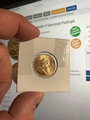 1981 Gold Sovereign - Elizabeth Ii Coin