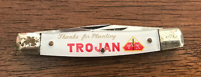 Wesley Madsen,Trojan Corn Seed Dealer Advertising Trojan Pocket Knife