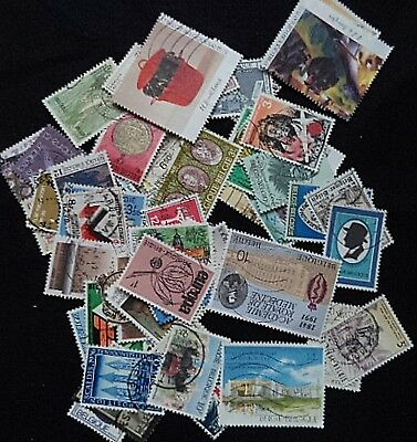 100 large different used Belgium stamps