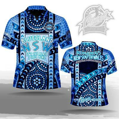 State of Origin NSW Indigenous Mens polo shirt