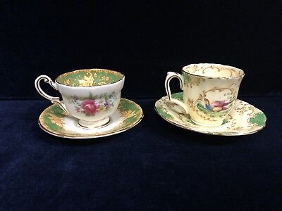 Vintage Crown Staffordshire Duo With a Paragon Made In England Duo