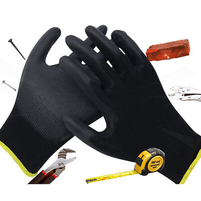 Anti-static PU Palm Coated Safe Protective Work Gloves For mechanical workshop