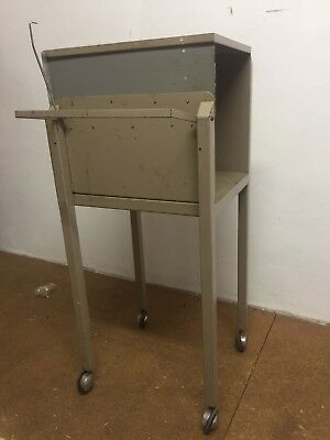 Unique Industrial Trolley Side Table. Delivery Available